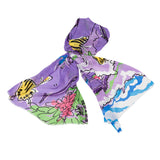 Custom Designed Hand Drawn Resort Scarves