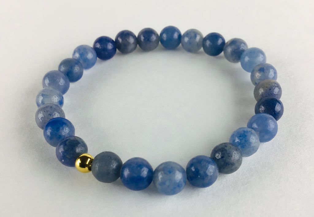 """Calm"" Blue Quartz Bracelet"