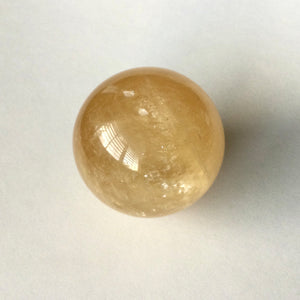 """Connection to Higher Realms"" Golden Calcite Sphere"