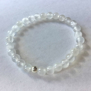 """Great Spirit"" White Selenite Bracelet"