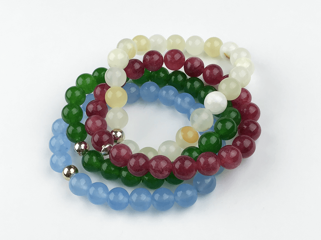 """The Jade Quartet"" Bracelet Set"