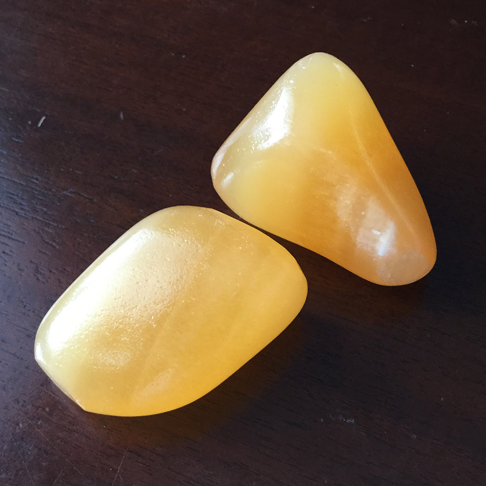 Orange Calcite Pair