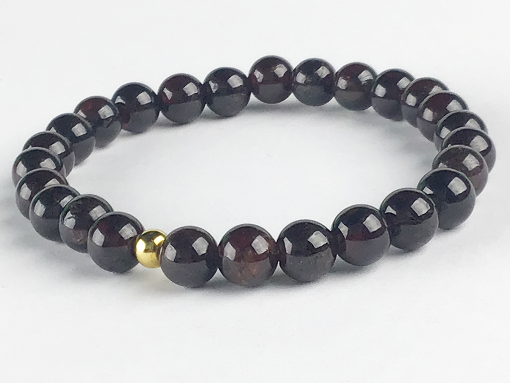 """Female Ancestry"" Red Garnet Bracelet"