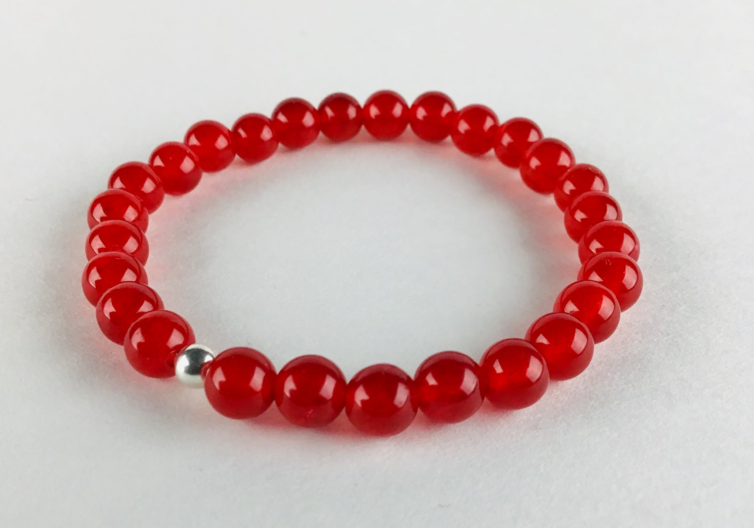 """Safety"" Red Jade Bracelet"
