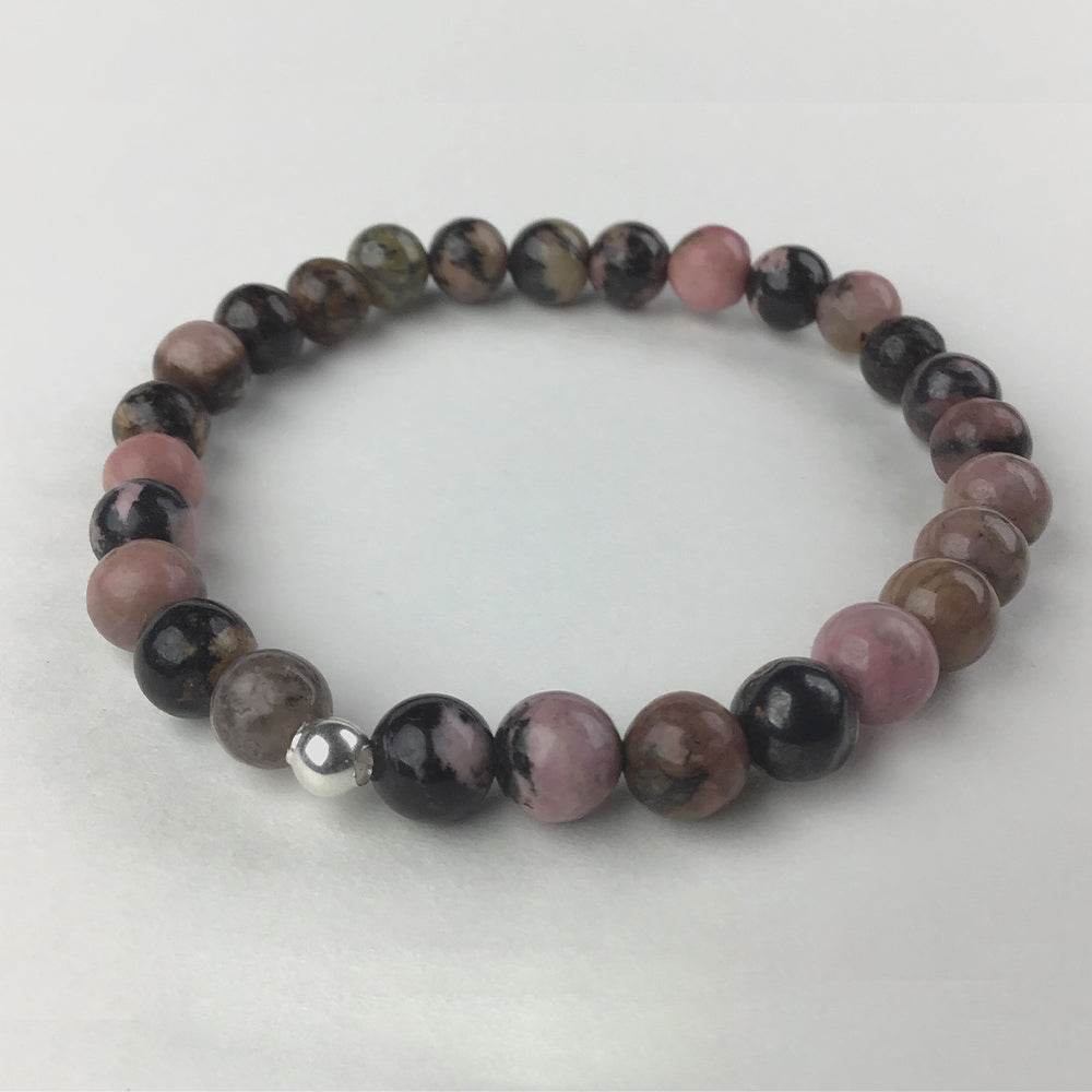 """Harmonize All Your Relationships"" Rhodonite Bracelet"