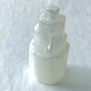 Small White Selenite Pillar