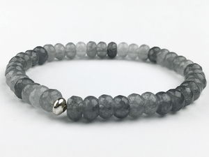 """Tranquility"" Gray Agate Bracelet"