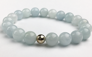 """Courage"" Aquamarine Bracelet"