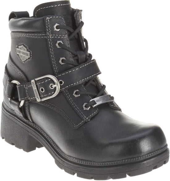 31a0b9b3ecfb Harley-Davidson® Women s Tegan 4-Inch Black Lace-Up Boots