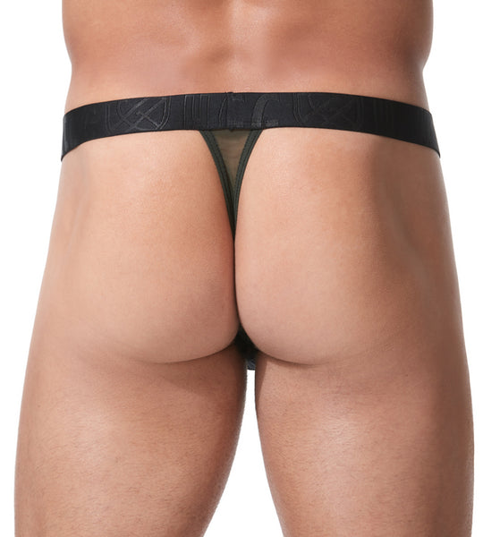 Temptation Thong - Khaki Green