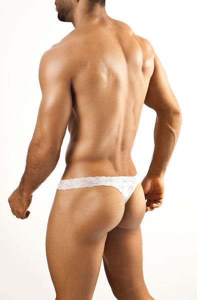 Lace Thong - White