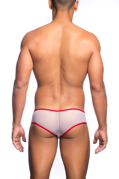 Cheek Mesh Boxer - White