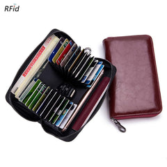 RFID blocking travel wallet for men or women