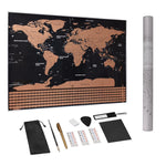 Deluxe Travel Edition Scratch Off World Map Poster - Accesorios de viaje Einhorn