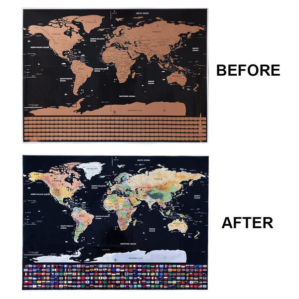 Deluxe Travel Edition Scratch Off World Map Poster - Einhorn Travel on key club posters, tear off posters, peel off posters, kick off posters, dance off posters,