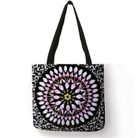 Mandala Linen Tote Bags - Einhorn Travel Accessories