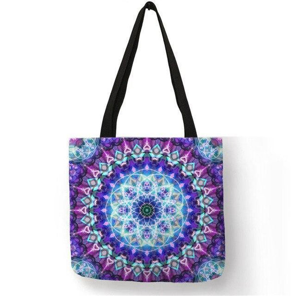 ECO Mandala Fabric Linen Tote Bags - Einhorn Travel Accessories