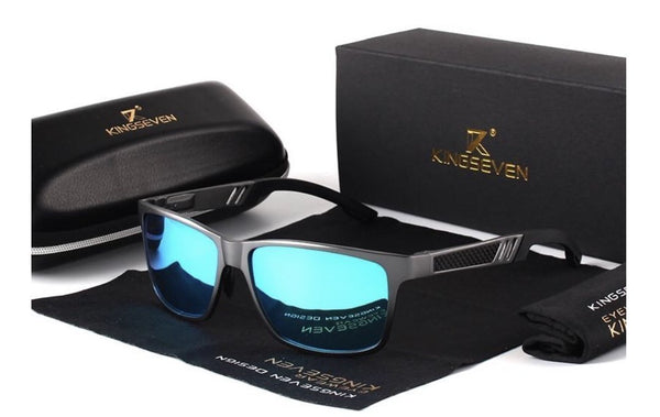 KINGSEVEN Aluminum Polarized Sunglasses N7180 Mens - Einhorn Travel Accessories