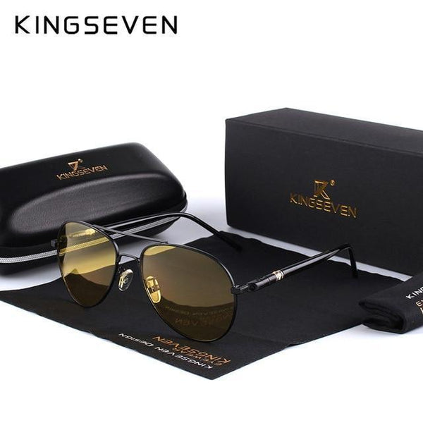 KINGSEVEN Mens Polarized Night Driving Glasses K709 - Einhorn Travel Accessories