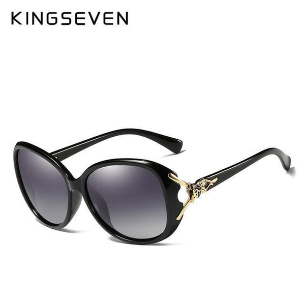 KINGSEVEN Retro Big Frame Ladies Sunglasses N7842 - Einhorn Travel Accessories