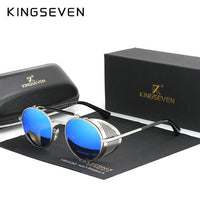 KINGSEVEN Round Steampunk Mens or Ladies Sunglasses N7550 - Einhorn Travel Accessories