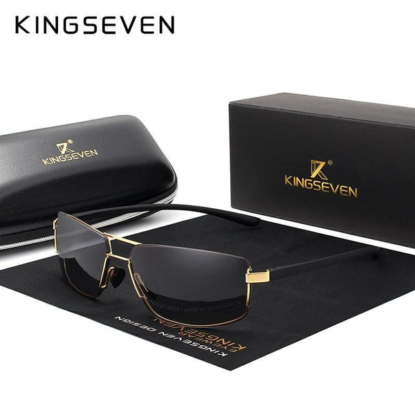 KINGSEVEN Square Frame Mens Polarized Sunglasses N7128 - Einhorn Travel Accessories