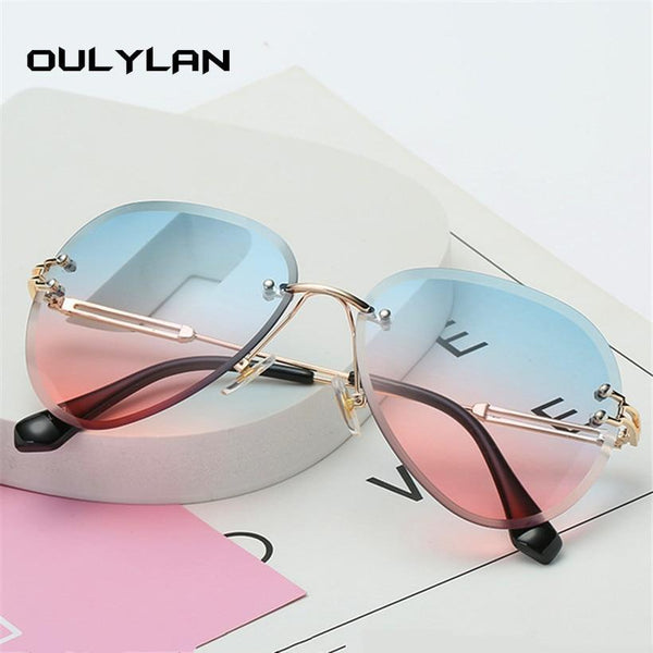 Oulylan Rimless Ladies Sunglasses - Einhorn Travel Accessories