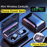 Mini Bluetooth Wireless Earbuds V5.0 with Charger Case - Einhorn Travel Accessories