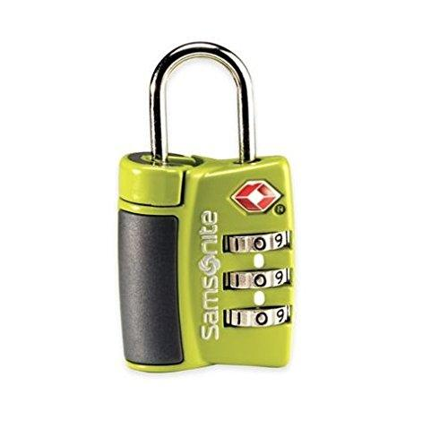 Samsonite 3 Dial Travel Sentry Combo Luggage Lock, Neon Green - Einhorn Travel Accessories
