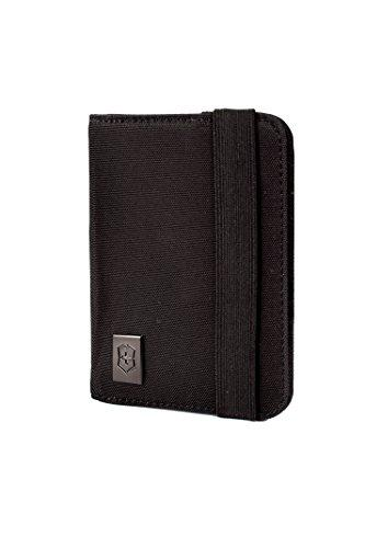 Victorinox Passport Holder with RFID Protection, Black/Red Logo - Einhorn Travel Accessories
