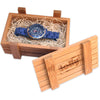 blue watches in lolly bamboo crate
