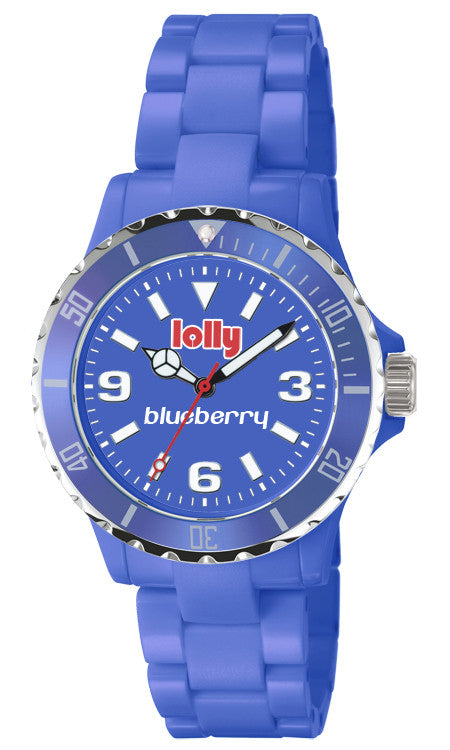 blue watches : lolly Eco-resin blueberry