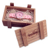pink watches bamboo case