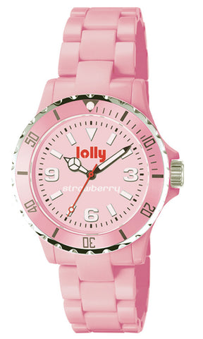 Pink watch, Eco-Resin : Strawberry sentanite