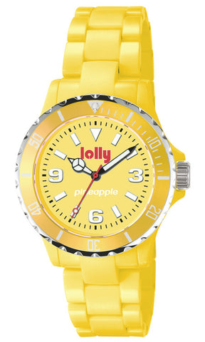 Yellow watch, Eco-Resin : Pineapple sentanite