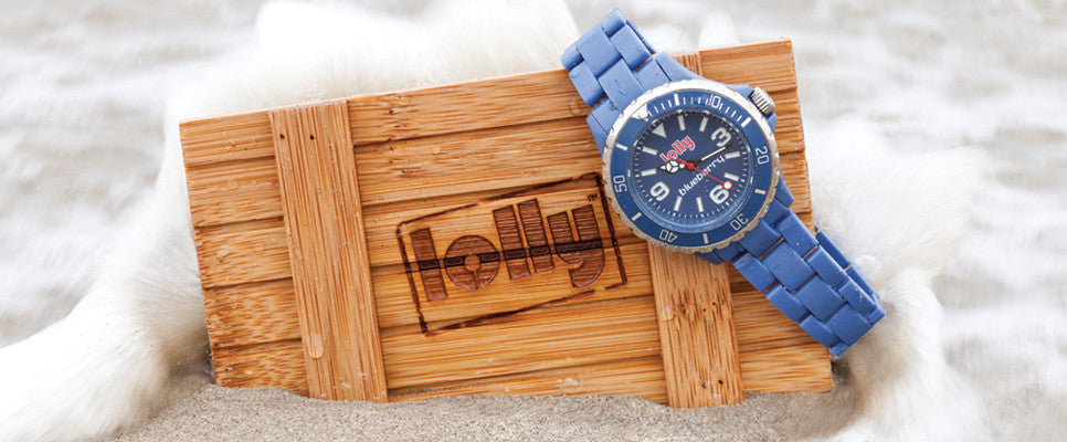 blue watches : lolly Eco-Resin