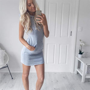 Women Summer Hoodie Sweatshirt Female Fashion Stripe Dress Vestidos De Festa Robeuotelab-uotelab
