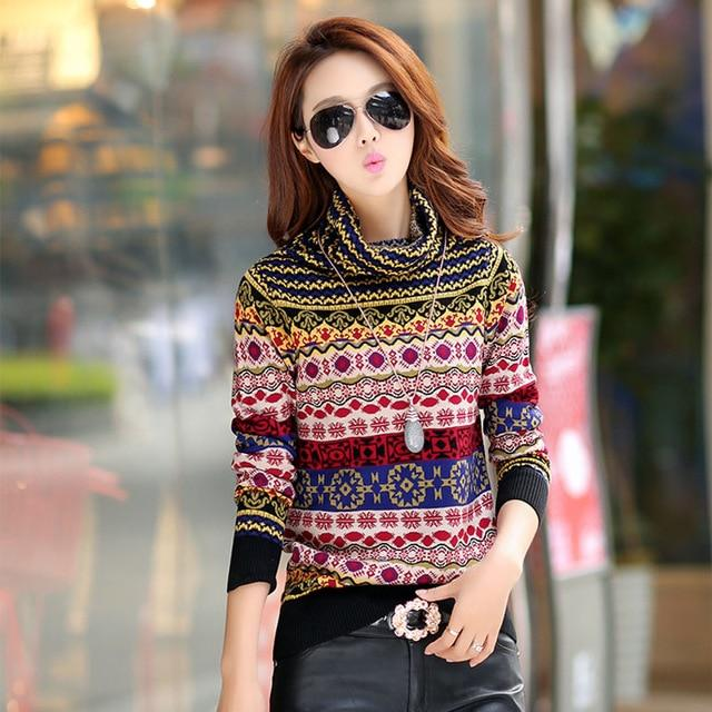 Autumn and Winter 2015 New Fashion thickening basic sweater female pullover turtleneckuotelab-uotelab