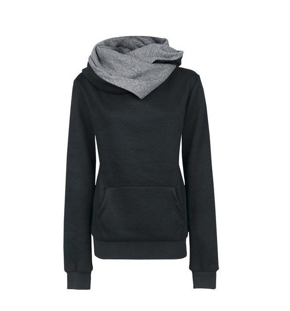 2016 Autumn Winter Women Casual Solid Hoodies Unisex Lapel Hooded New Sweatshirtsuotelab-uotelab