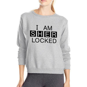 For Movie Fans Sherlock Holmes hoodies I Am Sher locked Letters Inspireduotelab-uotelab