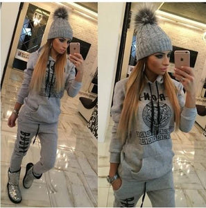 2016 New Ladies Tracksuits Hoodies Sweatshirt + Long Pants Sportwear Costumes Womenuotelab-uotelab