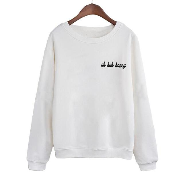 Uh Huh Honey Kanye West Sweatshirt Streetwear Top Fashion Crewneck Hoodies Womenuotelab-uotelab