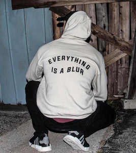 Everything is a Blur Unisex Hoodies Letter Graphic Jumpers Women/Men Spring Hipsteruotelab-uotelab