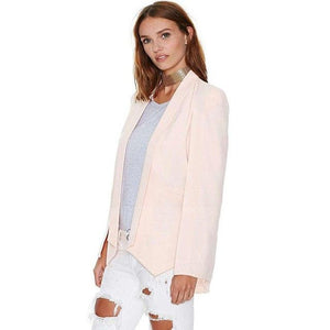 New Fashion Women Cloak Coat Blazer Suit Long Sleeve Lapel Cape Splituotelab-uotelab