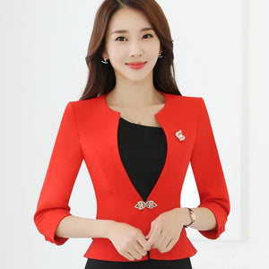 HanOrange Single Button Office Lady Plus Size OL Traditional Classical Half Sleeveuotelab-uotelab