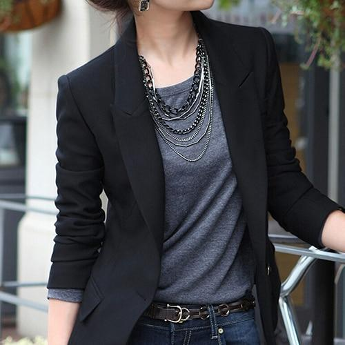New Arrival Women's Fashion One Button Slim Casual Business Blazer Suit Jacketuotelab-uotelab