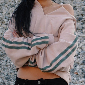 Women Ullzang Oversized Hoodies Sweatshirt 2017 Fashion Autumn Female Loose Pullover Cropuotelab-uotelab