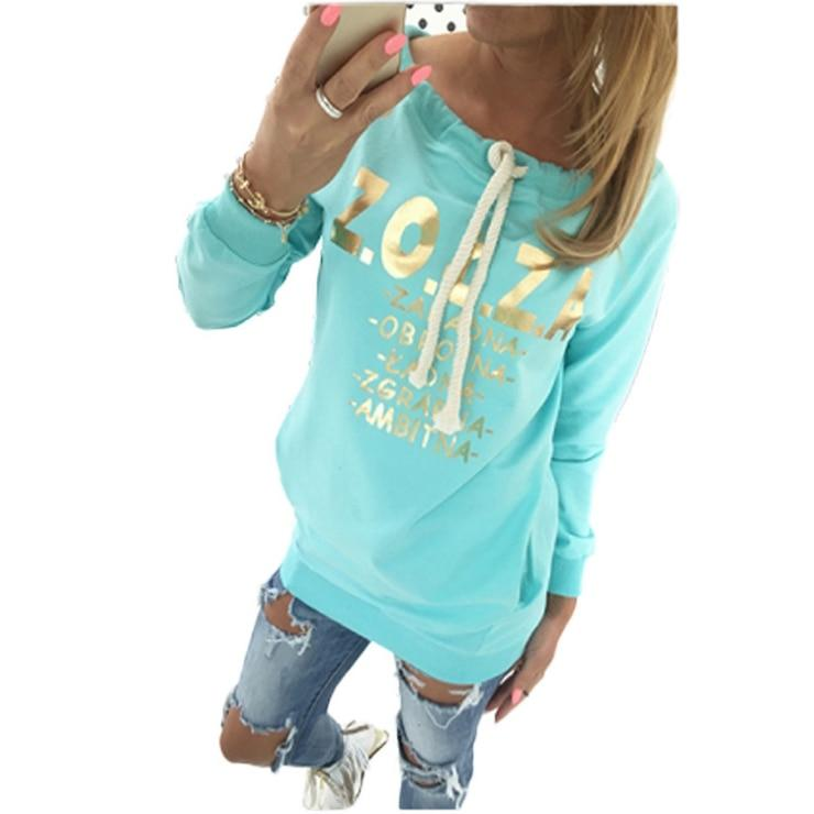 2017 New Tracksuit Women Printed Long Sleeve Hoodies O-neck Pullovers Medium-long Hoodiesuotelab-uotelab