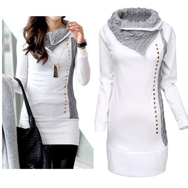 High Quality 2016 New Stylish Women Shirt Turn-Down Collar Woman Lady Rivetuotelab-uotelab
