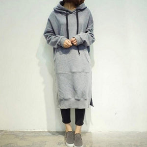 Women 2017 Spring Autumn Casual Loose Long Hoodies Sweatshirt Oversize Full Sleeveuotelab-uotelab